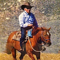 James Prochaska riding the range in Nevada